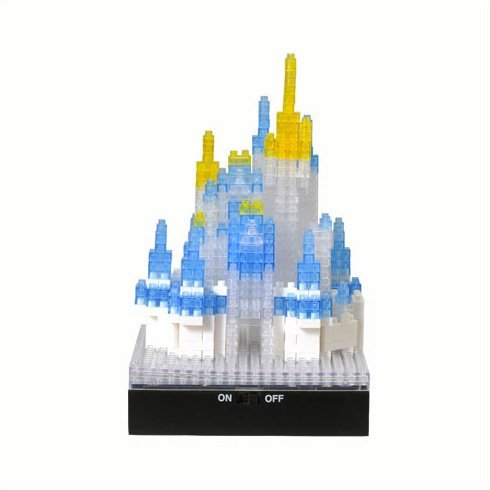 (Disneyland limited 2014 Once Upon A Time nano block Cinderella Castle (LED red, blue, and)