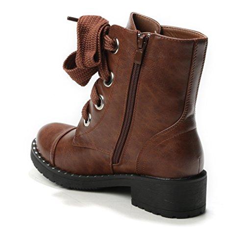 HERIXO Women's Boots Camel Hy2tXgWu