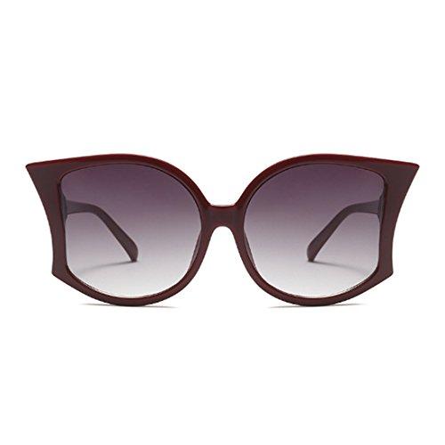 las la UV400 de Vino grandes de verano de las sol manera de Gafas Yefree de mujeres de de las sol gafas Rojo mujeres ARXXnO