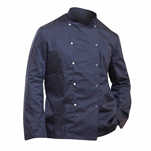 Dennys Mens Economy Long Sleeve Chefs Jacket / Chefswear (M) (Black)