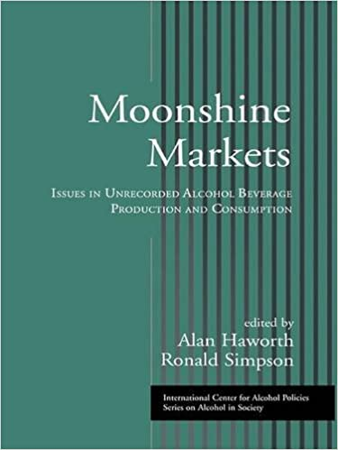 Book Moonshine Markets: Issues in Unrecorded Alcohol Beverage Production and Consumption (ICAP Series on Alcohol in Society)