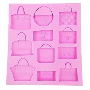 Molde de silicona forma bolsos y carteras para fondant sugarcraft herramienta de decoracion de - Moldes silicona amazon ...