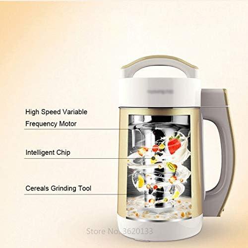 MBBJJ Hogar Exprimidor Batidora Máquina de Soja Leche sin Filtro-máquina de Leche de Soja automática Inteligente de múltiples Funciones de la máquina jugos