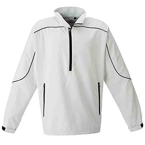 PAGE & TUTTLE Mens Free Swing Peached Windshirt Golf Athletic Outerwear Jacket Bone - Windshirt Long Sleeve Pullover