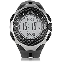 Spovan Sports MINGO Multifunction Outdoor Digital Compass Barometer Pedometer Temperature Altimeter Weather Forecast Men Watch gray