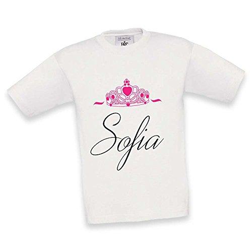 Queen Grafica King Maglietta Bianca T Bimba Personalizzata Nome shirt Bambino Con Maglia 8xTwf