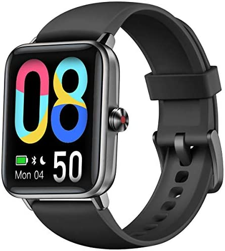 """Smart Watch, Dirrelo Fitness Tracker Heart Rate Monitor, Blood Oxygen/Sleep Monitor with 1.55"""" Touch Screen, Step Counter, IP68 Waterproof Pedometer Calorie Counter Watch Men Women, Android iPhones 1"""