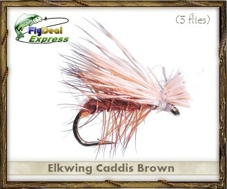 Caddis Dry Fly (Fly Fishing Flies - ELKWING CADDIS BROWN - Dry Fly (3-pack))