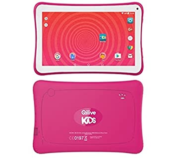 Qilive Kids 7 8GB Rosa, Color blanco - Tablet (Tableta para jugar
