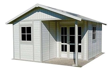 Grosfillex-Caseta de jardín PVC Deco 20 m², color gris y verde, 2 de anclaje Grosfillex kits: Amazon.es: Jardín
