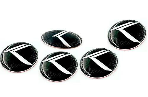 LODEN Carbon Optic K Wheel Cap Emblem Overlay Set 4pc Metal FOR Kia Telluride CF