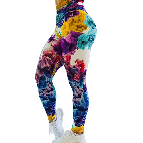 Botrong Yoga Pants for Women Printed Leggings Fitness Sports Running Athletic Long Pants (Multicolor,M) ()