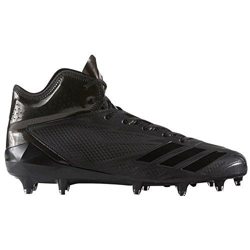 adidas Adizero 5-Star 6.0 Mid Cleat - Men's Football 14 Black/Black/Black