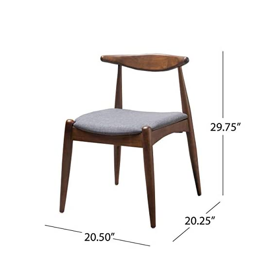Christopher Knight Home Francie Fabric with Walnut Finish Dining Chairs, 2-Pcs Set, Dark Beige / Walnut - Includes: Two (2) Dining Chairs; Dimensions: 21.25 inches deep x 21.45 inches wide x 29.52 inches high Seat Width: 18.25 inches Seat Depth: 18.00 inches Seat Height: 17.75 inches Fabric Composition: 100% Polyester - kitchen-dining-room-furniture, kitchen-dining-room, kitchen-dining-room-chairs - 41iBpS3G%2BvL. SS570  -