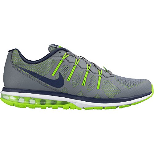 Men's Nike Air Max Dynasty Running Shoe Cool Grey/Electric Green/White/Midnight Navy Size 11 M US (Green Nike Running Shoes)