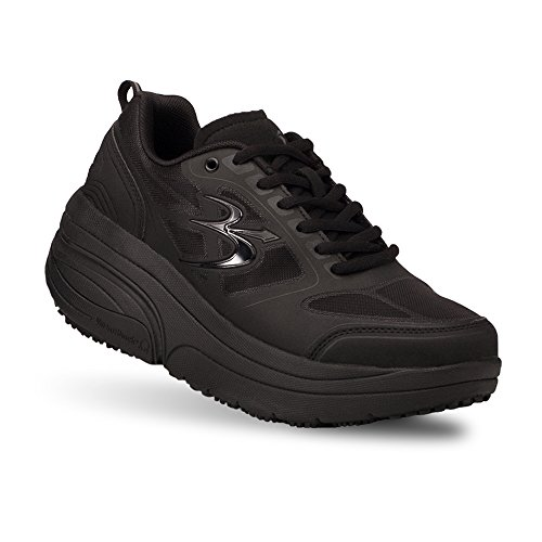 Gravity Defyer Women's G-Defy Ion Black Athletic Shoes 7.5 XW US Comfortable Walking Shoes Plantar Fasciitis Shoes