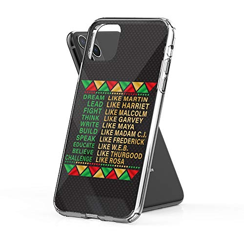 Case Phone Black History Dream Lead Fight (6.1-inch Diagonal Compatible with iPhone 11)
