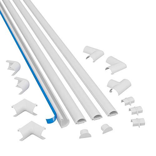 D-Line 2010KIT001 4 meter zelfklevend kabelgootset, kabelbeheer, zelfklevende kabelafwerking, elektrisch netjes…