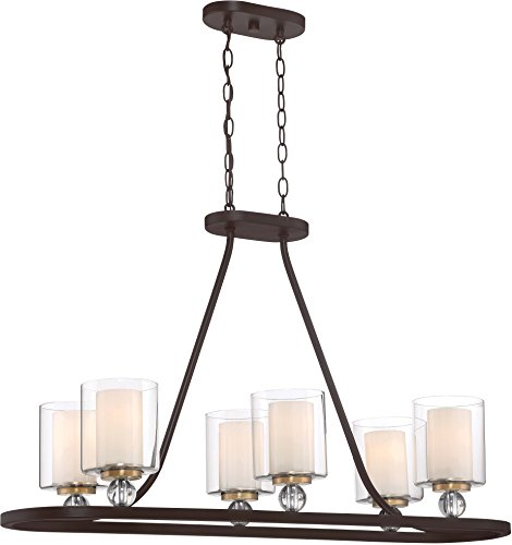 Minka Lavery Island Chandelier Mini Pendant Lighting 3076-416 Studio 5 Dining Room Fixture, 5-Light 500 Watts, Painted Bronze (Bronze Finish 8l Chandelier)
