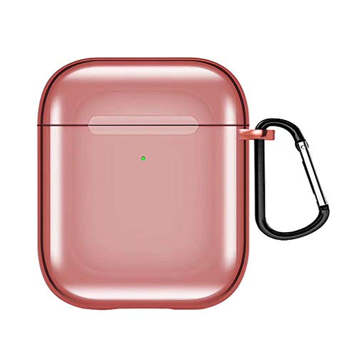 Price comparison product image MChoiceTPU Electroplated Case Cover Soft Protective Skin for Apple Airpods 2nd / 1st (Pink)