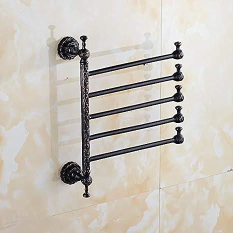 Toallero,Estante del baño del cuarto de baño del hotel del bronce negro antiguo de cobre, 5: Amazon.es: Bricolaje y herramientas