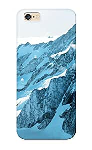 Christmas Gift - Tpu Case Cover For Iphone 6 Plus Strong Protect Case - Mountain Range In Greenland Design