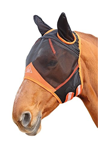 Shires Fine Mesh Fly Mask With Ears - Black - Small Pony