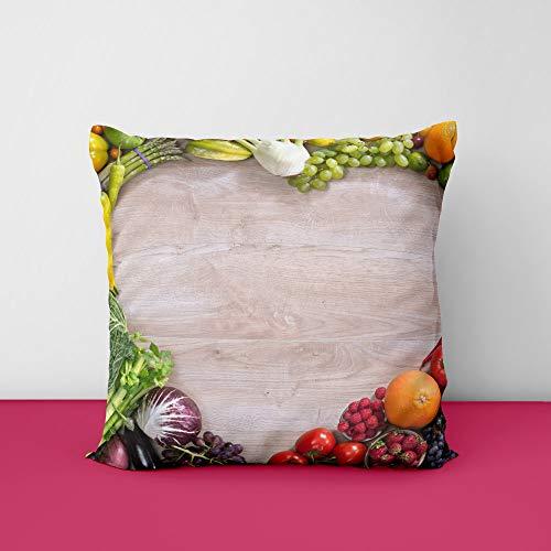 41iBrHvffBL Vagitable Heart Square Design Printed Cushion Cover