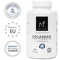 Colágeno con magnesio. Colágeno marino hidrolizado + magnesio + Ácido hialurónico + vitamina C.