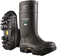 Dunlop E90203311 Explorer Thermo Full Safety Boots with Slip-Resistant Vibram Robber Sole and Steel Toe, 100%