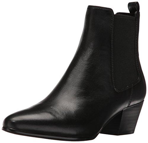 Sam Edelman Women's Reesa Ankle Bootie, Black Leather, 10...