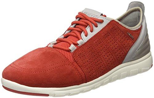 Geox U Xunday 2Fit B - Zapatillas para Hombre, Rojo, 40