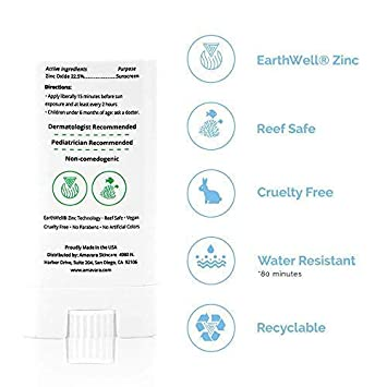 Amavara Mineral Sunscreen Facestick Transparent Zinc Oxide, Reef Safe, Vegan, Broad Spectrum Daily SPF 50. 0.6 oz. – 16.8 g