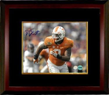 d8c26b64ae9 Derek Barnett Signed Photo - 8x10 Custom Framed #9 horizontal orange ...