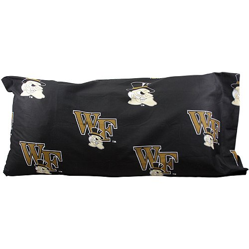 Pillowcase Printed Forest Wake - Wake Forest (WFU) Demon Deacons Printed King Size Pillow Case (Solid Color, Set of 2)