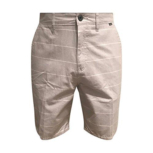 Hurley Mens Porter Striped Walking Shorts 28 Light Grey (Shorts Rose Walking)
