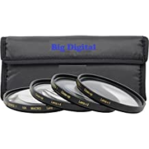 40.5mm Macro Close-Up Filter set +1 +2 +4 +10 w/ filter Wallet for Sony Alpha a6500 a6300 a6000 a5000 a5100 a3000 with 16-50mm Nikon 1 J1 J2 J3 J4 V1 V2 V3 AW1 S2 with 10-30mm 30-110mm 10mm Nikon 1