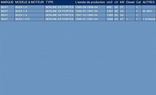 pour IBIZA 1.0 1.4 1.9 D HATCHBACK 50//60//64hp 1996-1999 ETS-EXHAUST 1734 Silencioso Trasero