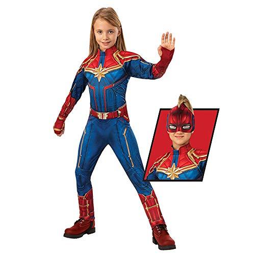 Marvel Superhero Deluxe Captain Marvel Child Costume Girls For Halloween Party