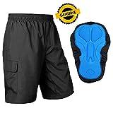 Baleaf Men's Mountain Bike Shorts 3D Padded MTB Cycling Shorts Quick Dry Black Size XXL