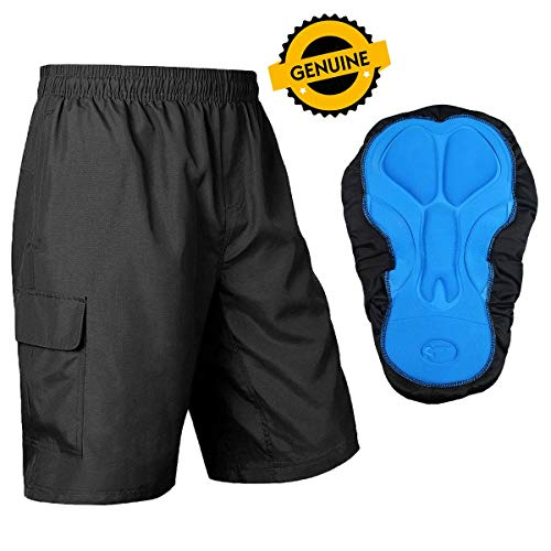 Baleaf Men's Mountain Bike Shorts 3D Padded MTB Bicycle Shorts for Riding, Cycling,Quick Dry, Black Size XL (Best Mountain Bike Shorts)