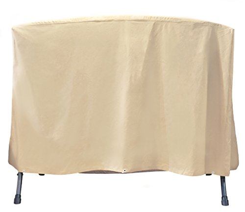 3 Seater Bench Set (Grand Patio Outdoor Swing Cover, Weather-Resistant 3 Triple Seater Swing Cover, Waterproof and Durable Porch Swing Covers, Beige)