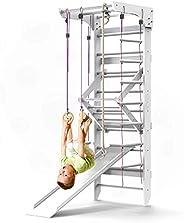Wooden Swedish Ladder Wall Set – Kids Stall Bars for Exercise – Kids Swedish Gymnastic Wall Gym – Wood Stall B