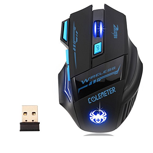 COLEMETER Wireless Gaming Maus Computer Maus Optische Maus USB Mouse bluetooth für PC Laptop
