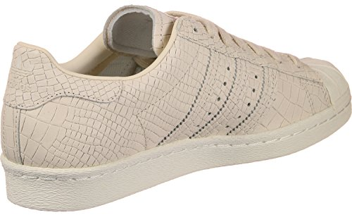 adidas Superstar 80s, Baskets Hautes Femme Beige (Linen/linen/off White)