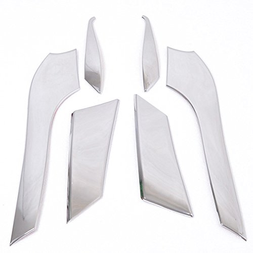 Kadore Front Headlight Cover Trim for Toyota Land Cruiser Prado FJ150 FJ 150 2010 2011 2012 2013 ABS Chrome 6PCS/Set