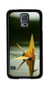 Samsung Galaxy S5 Case, S5 Cases - Paper Cranes In The Water Ultimate Protection Scratch Proof Soft TPU Rubber Bumper Case for Samsung Galaxy S5 I9600 Black