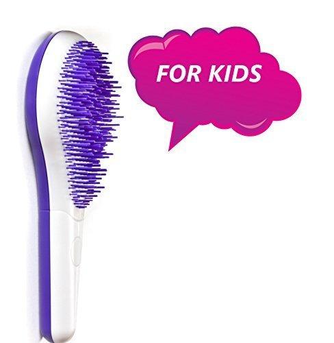 Michel Mercier Kids Detangling Brush White/Purple - For Thick Hair (Mercier Hair Brush)