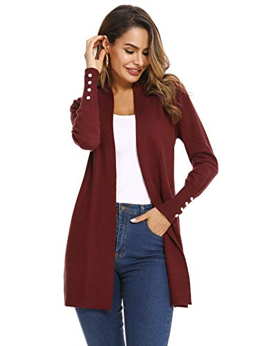 Abollria Women's Cardigan Autumn Winter Waterfall Long Sleeve Open Front Knitted Sweater Jumper Cardigan