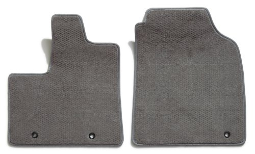 Premier Custom Fit 2-piece Front Carpet Floor Mats for Toyota Highlander (Premium Nylon, Gray)